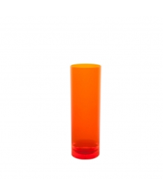 VERRE INCASSABLE TUBE 25CL  ORANGE FLUO