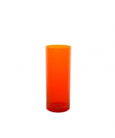 VERRE INCASSABLE TUBE 30CL  ORANGE FLUO