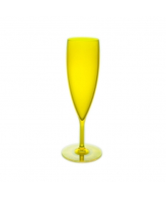 CHAMPAGNE FLUTE 15CL FLUO YELLOW