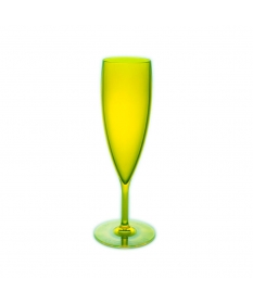 CHAMPAGNE FLUTE 15CL FLUO GREEN