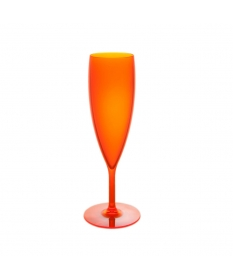 FLÛTE INCASSABLE 15CL ORANGE FLUO