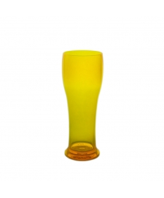 BEER GLASS 25CL FLUO YELLOW