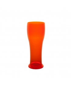 BEER GLASS 25CL FLUO ORANGE