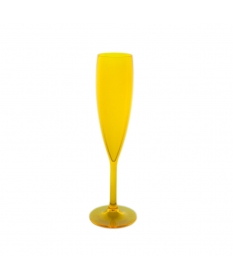 CHAMPAGNE FLUTE 9CL FLUO YELLOW