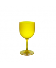 WINE COCKTAIL GLASS 26CL FLUO YELLOW