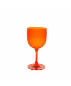 WINE COCKTAIL GLASS 26CL FLUO ORANGE