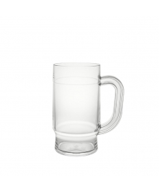 BEER MUG 50CL CLEAR
