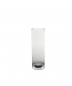 VERRE TUBE 25CL INCASSABLE PLASTIQUE TRANSPARENT