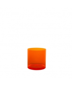 Verre plastique incassable Caipirinha 30cl ORANGE FLUO