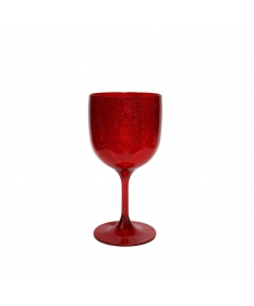 verre incassable piscine rouge pailleté 26CL  réutilisable