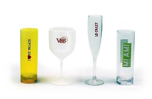 Personnalisation verre plastique incassable logo