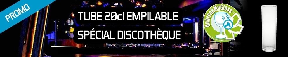Promotion tube 20cl spécial discothèque