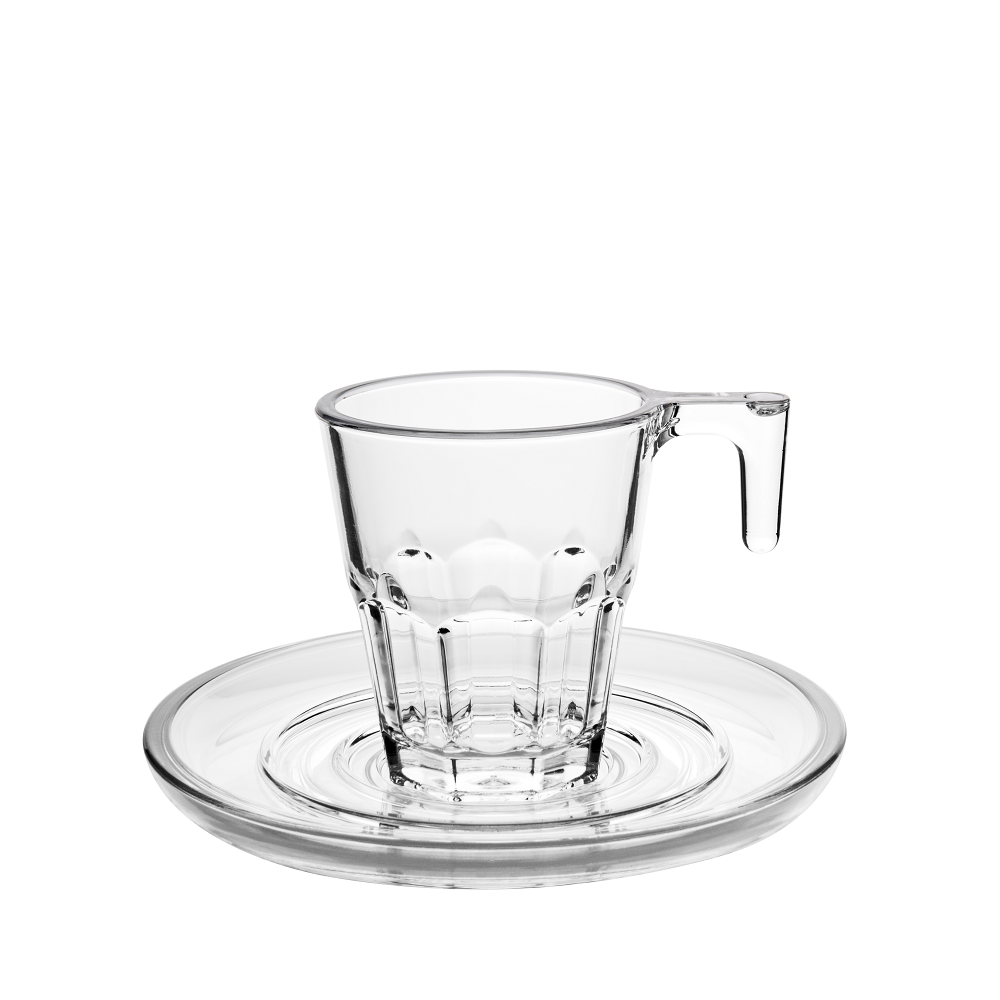 Reusable shatterproof plastic coffee cups
